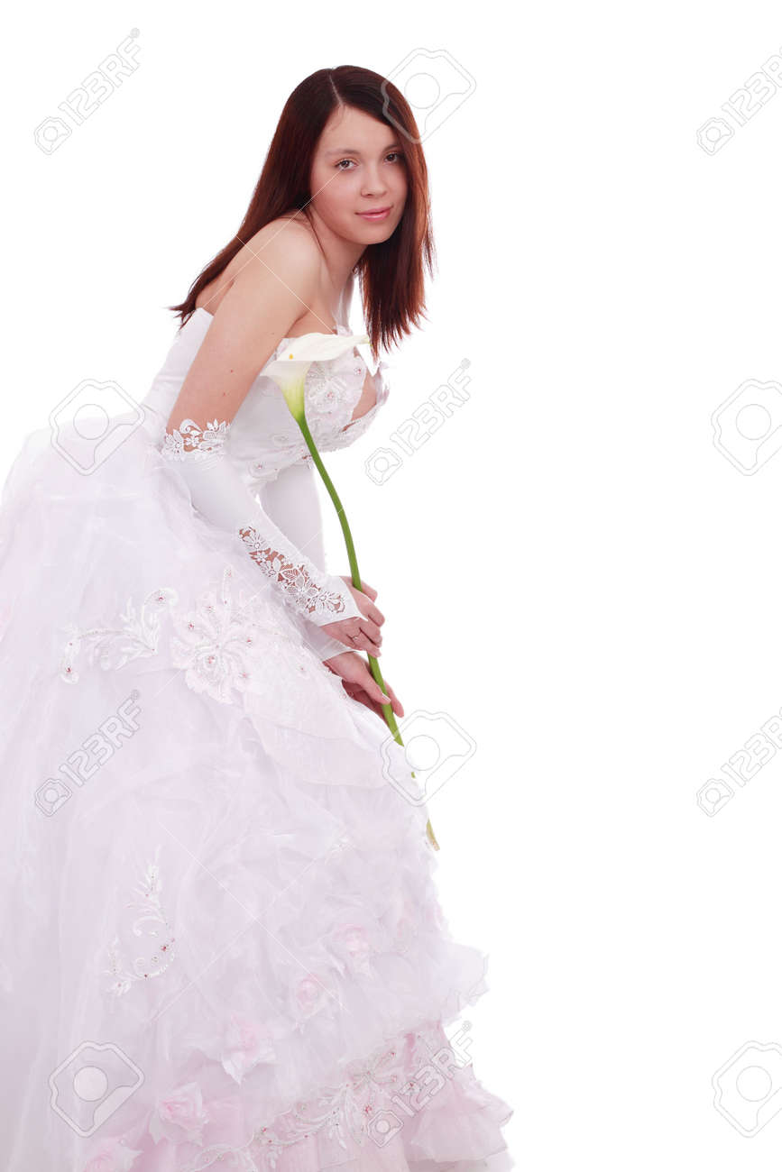 Wedding background: A woman on she wedding day Stock Photo - 3003777