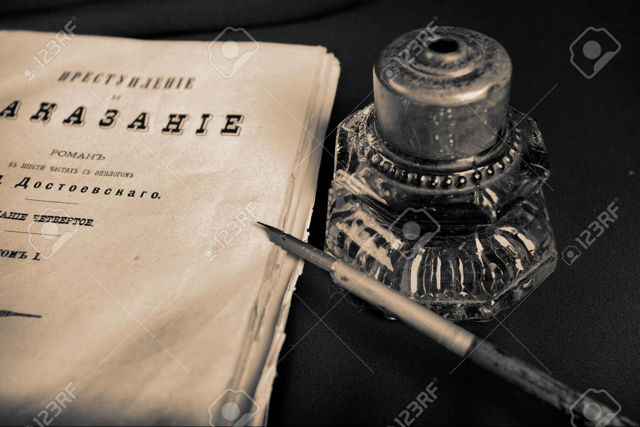 Exceptional Vintage Things: Books, Candles And Other. Stock Photo