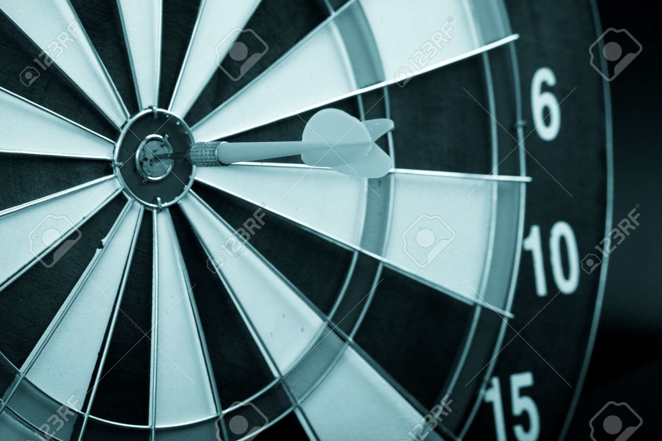 Target with arrow: game, aim, sport Stock Photo - 3582255