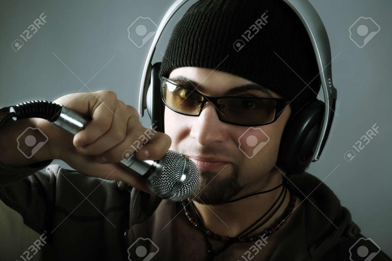 Handsome man in headphones enjoying the music Stock Photo - 4196662