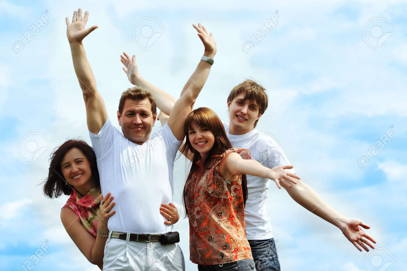 Happy family having a rest together outdoor. Stock Photo - 4900319
