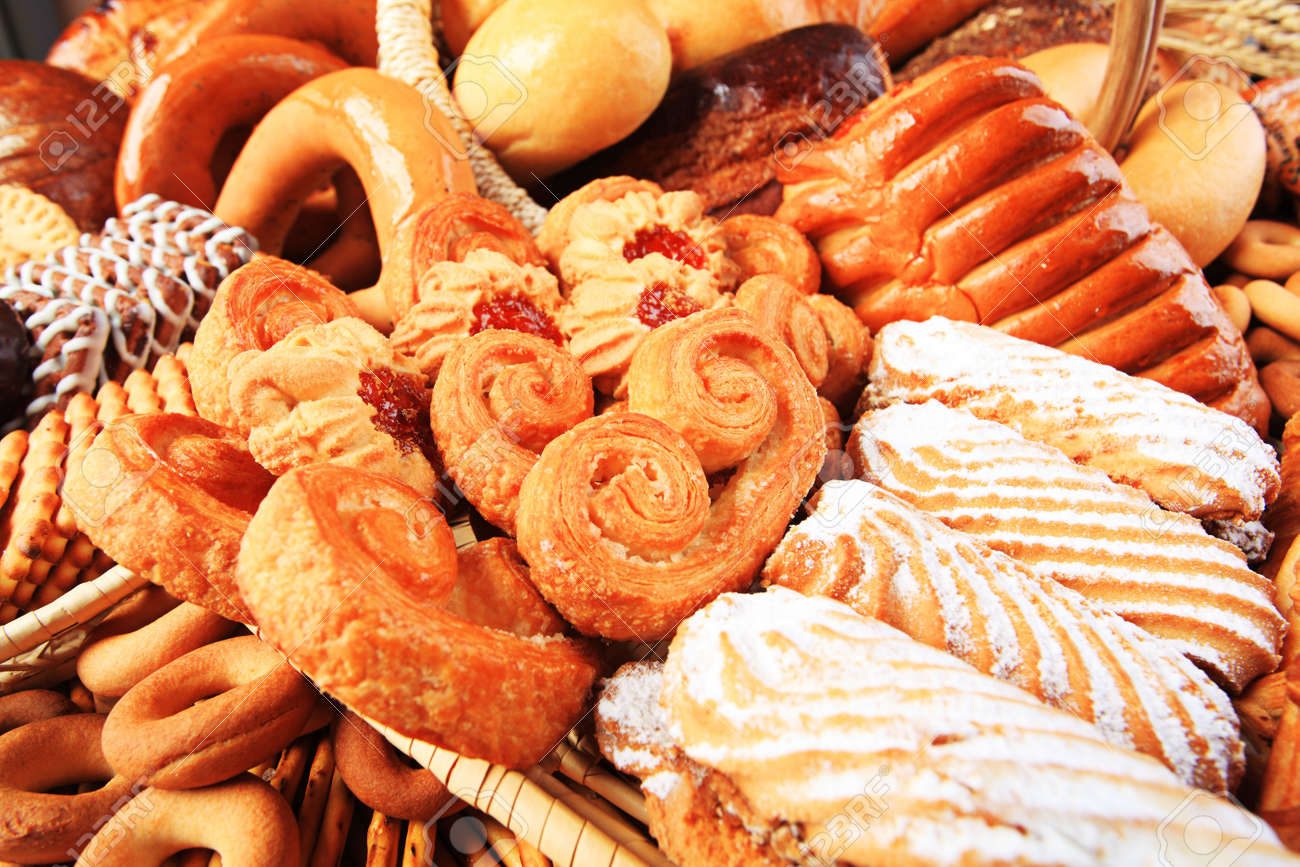 Bakery foodstuffs. Shot in a studio. Stock Photo - 5163701