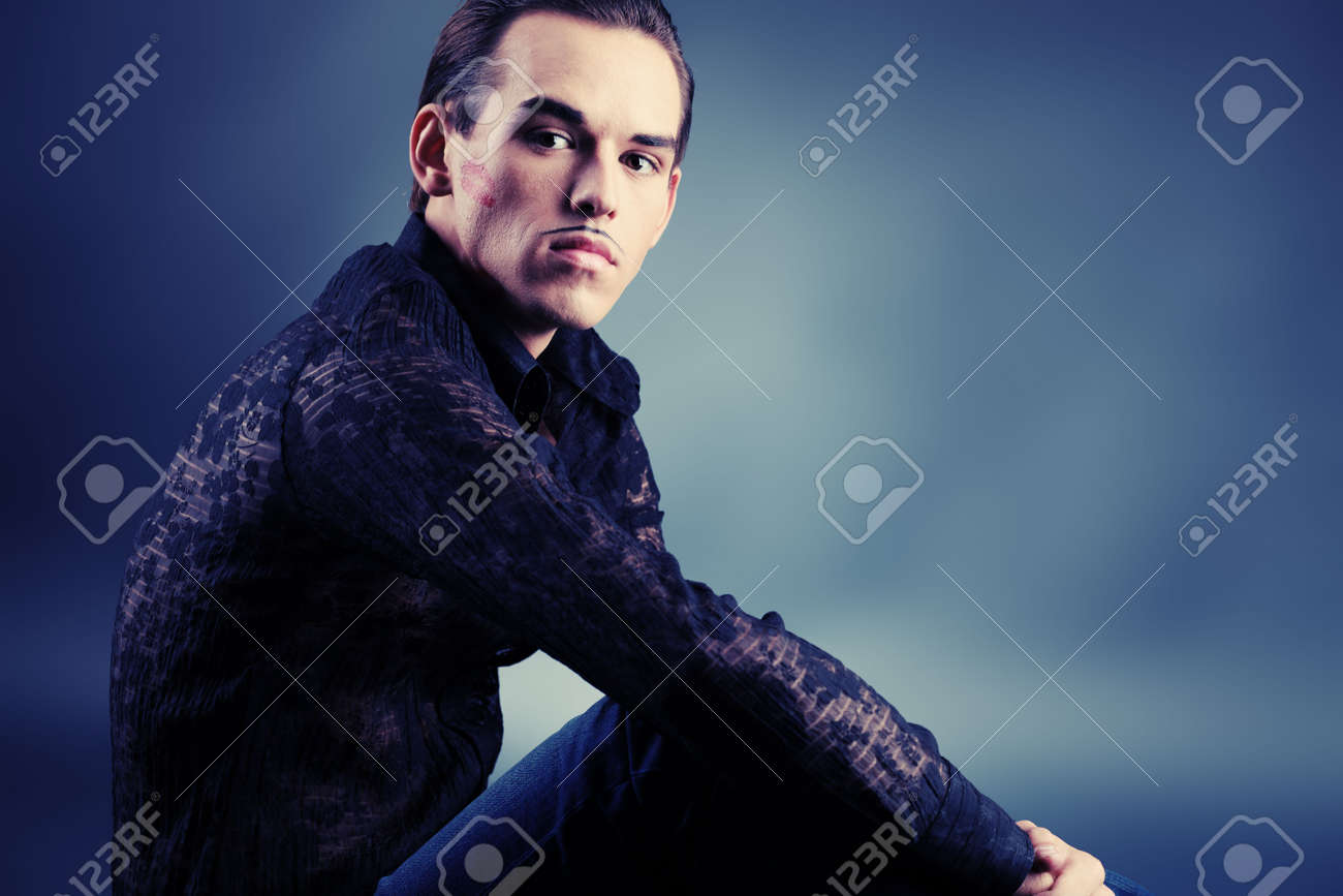 Portrait of a handsome male model, ladies lover. Stock Photo - 5716632