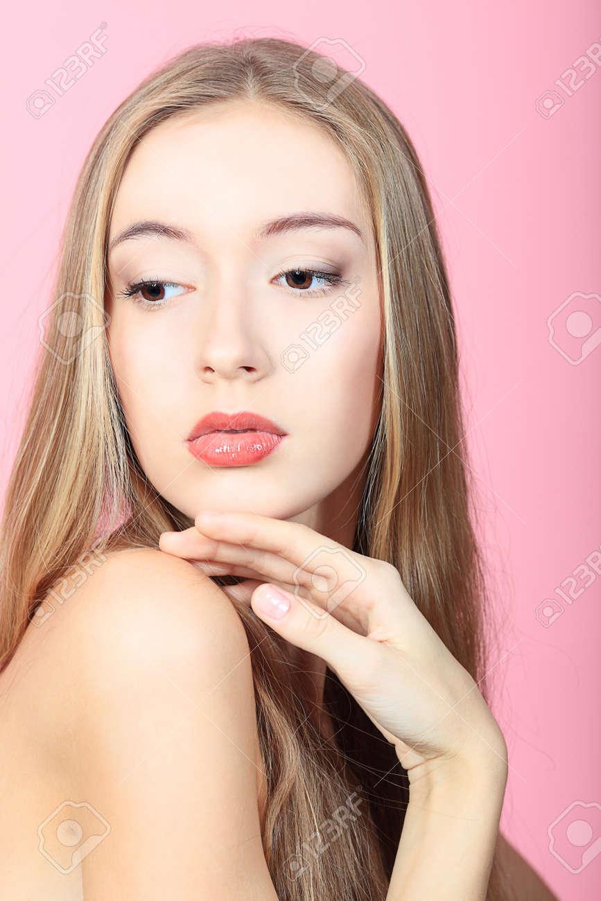 Portrait of a beautiful  professional model. Theme: healthcare, beauty, fashion Stock Photo - 8109434