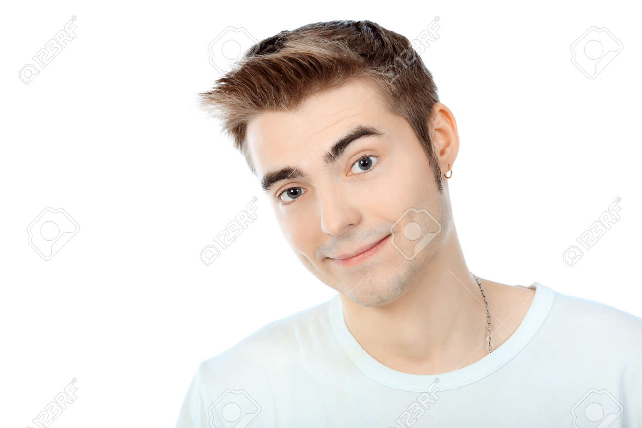 Portrait of a handsome young man. Isolated over white background. Stock Photo - 8646619
