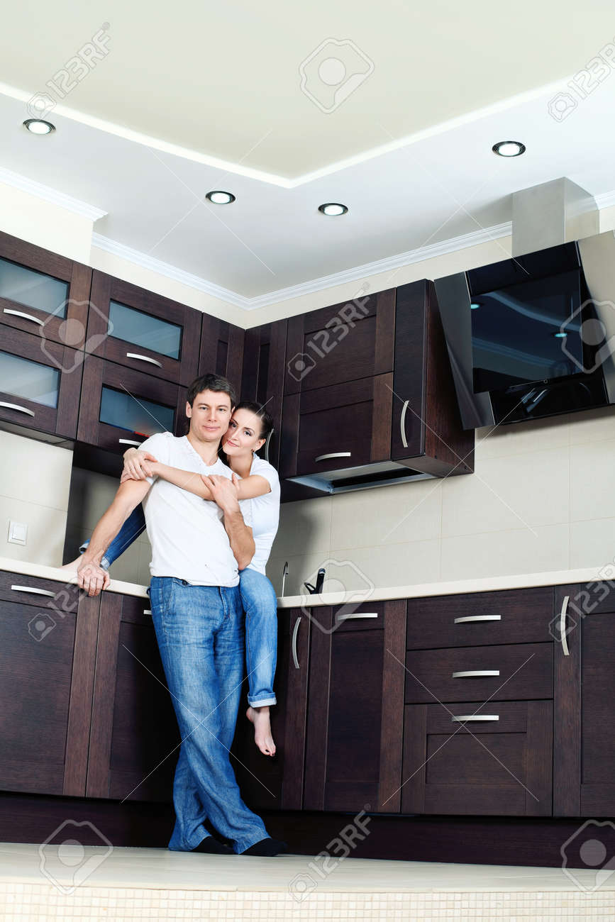 Happy married couple having a rest at home. Stock Photo - 9073347