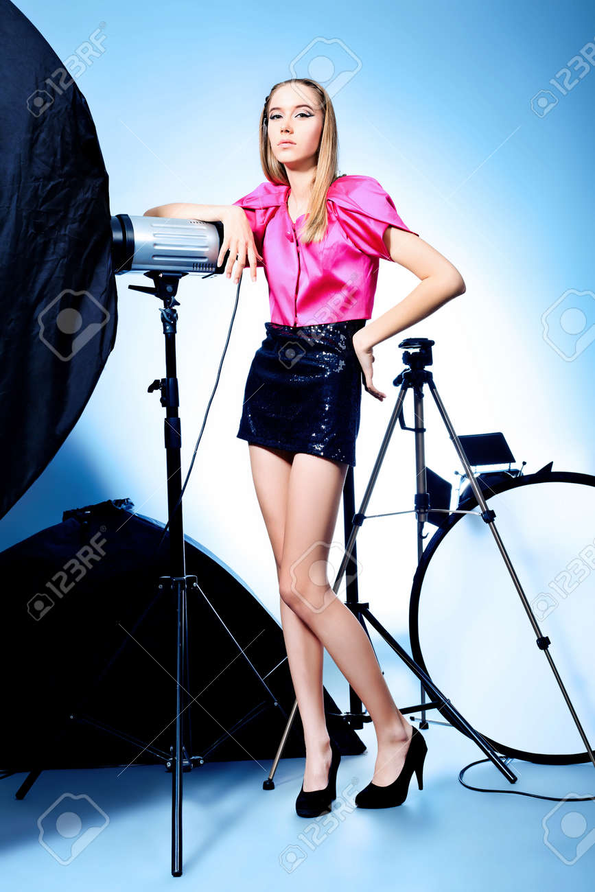 photo session in studio on a white background Stock Photo - 9454435