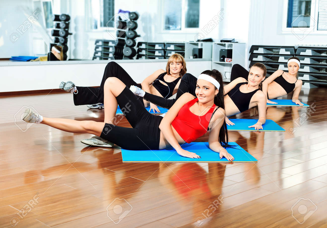 Group of young women in the gym centre. Stock Photo - 9524150