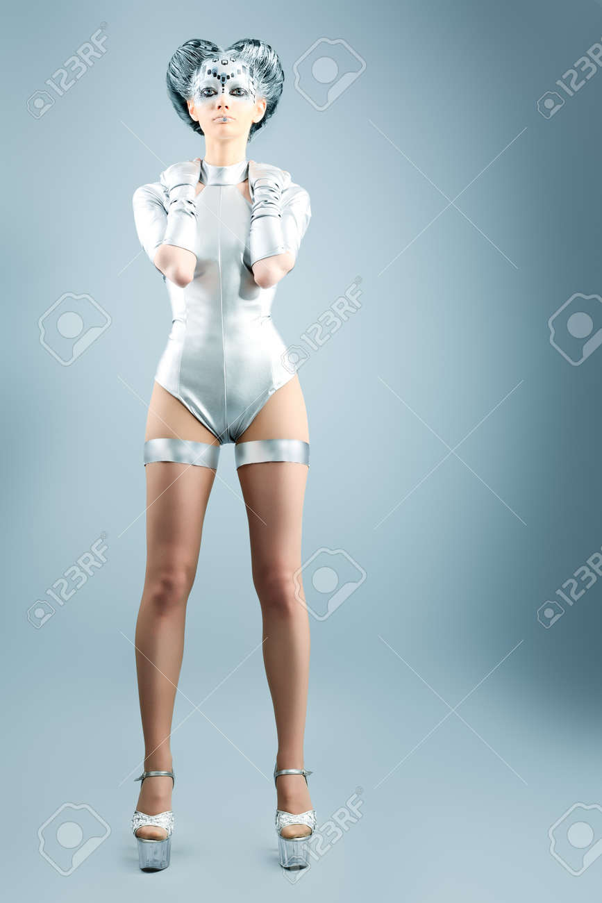 Shot of a futuristic young woman. Stock Photo - 9785026