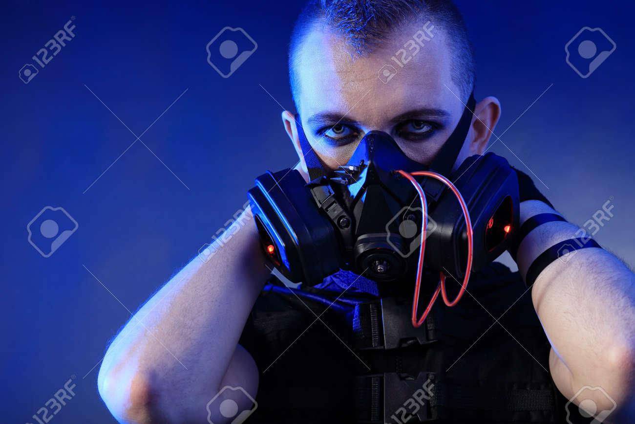 Shot of a conceptual man in a respirator. Stock Photo - 9962067