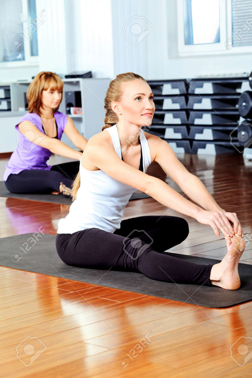 Group of young women in the gym centre. Stock Photo - 11690984