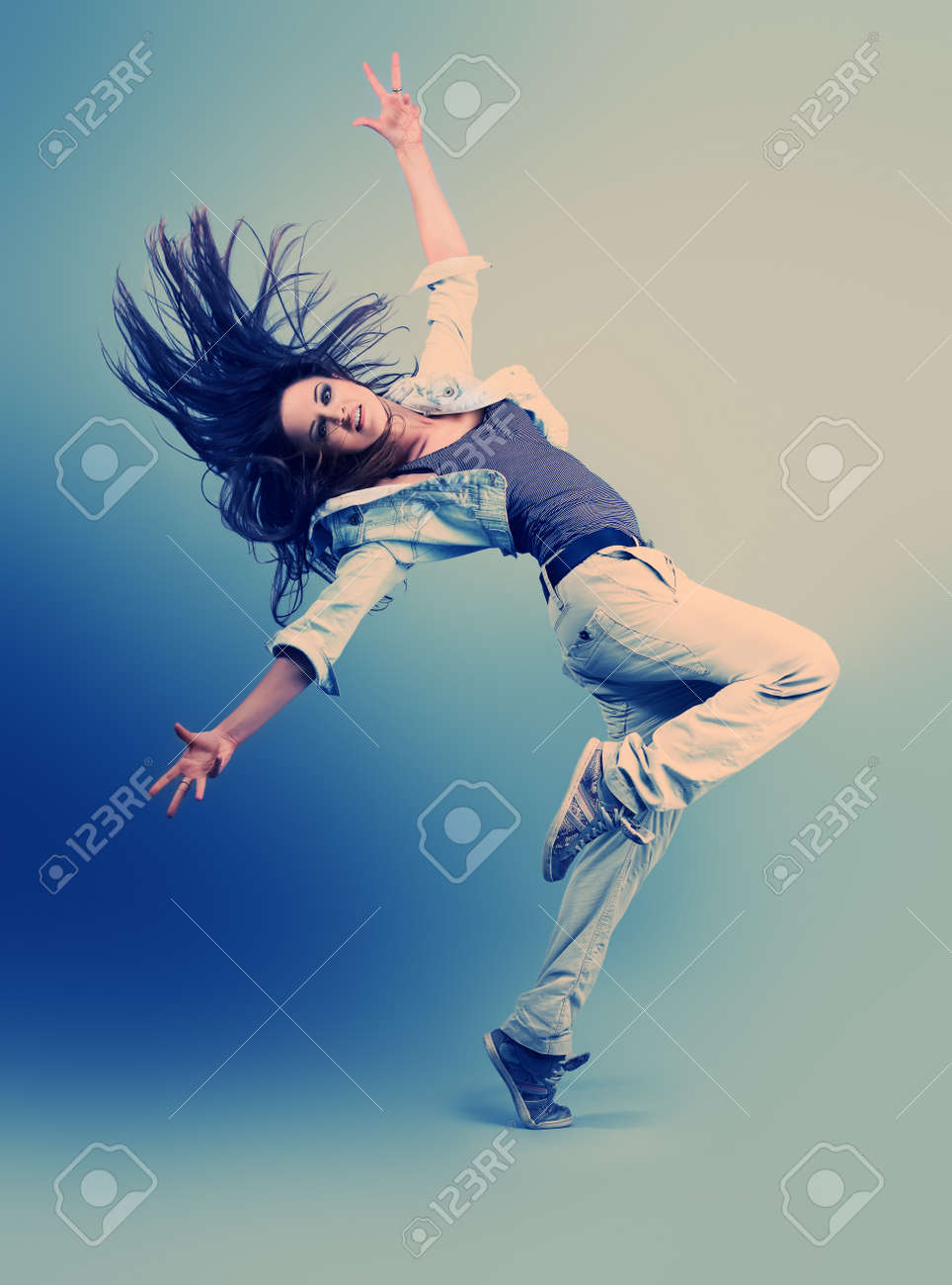 Teenage Girl Dancing Hip Hop At Studio Stock Photo Picture And Royalty Free Image Image 10282423