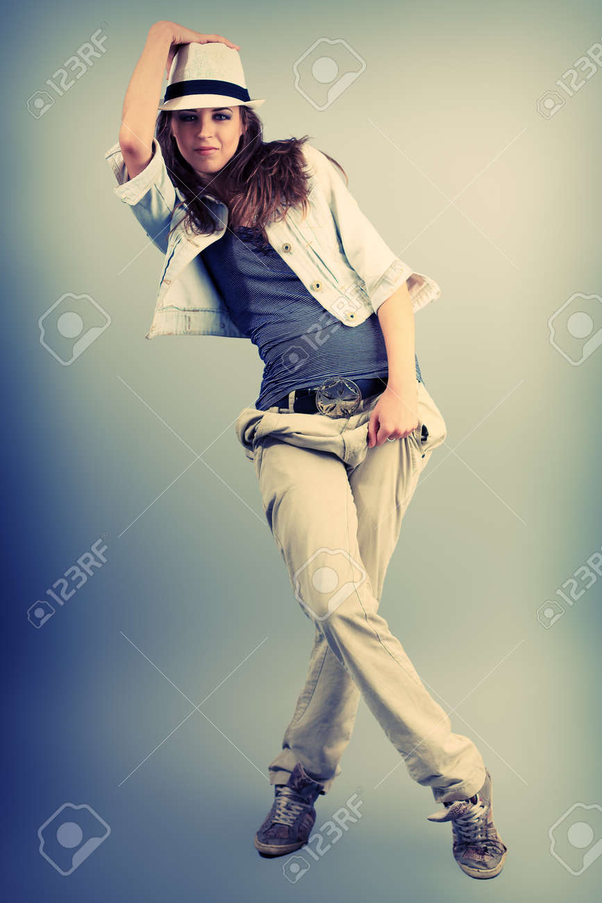 Teenage Girl Dancing Hip Hop At Studio Stock Photo Picture And Royalty Free Image Image 13666559