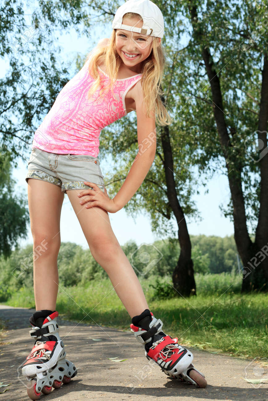 Girl Roller Skate