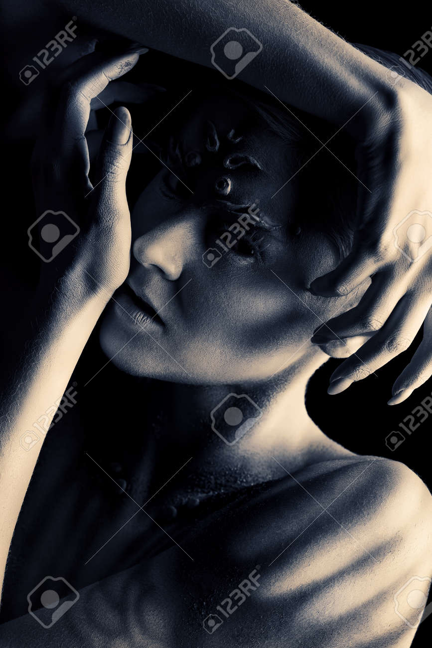 Art Project Expressive Young Woman With Beautiful Painted Body Stock Photo Picture And Royalty Free Image Image 19940491