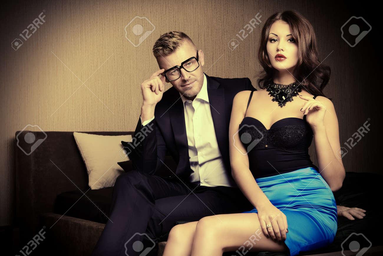 Un magnifique couple glamour