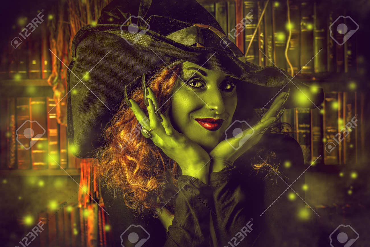 Fairy wicked witch in the wizarding lair. Magic. Halloween. - 41846062