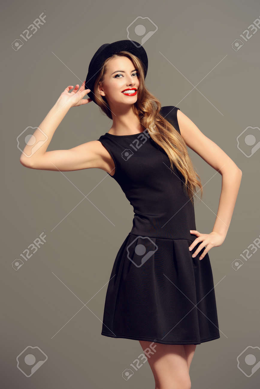 A long black dress girls