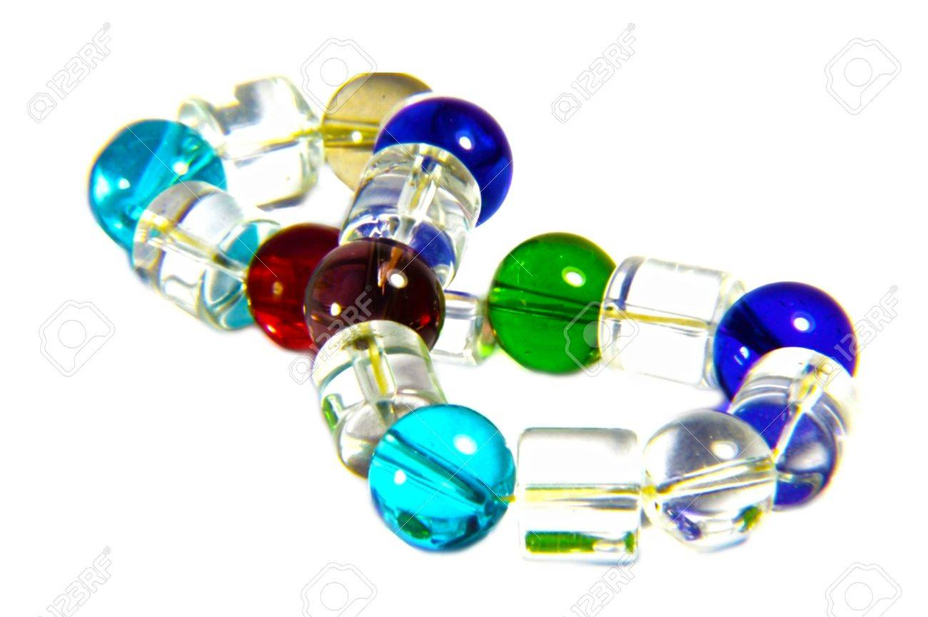 Different Colors Of Glass Beads Used In A Bracelet Transparent Stock Photo Picture And Royalty Free Image Image 18958267