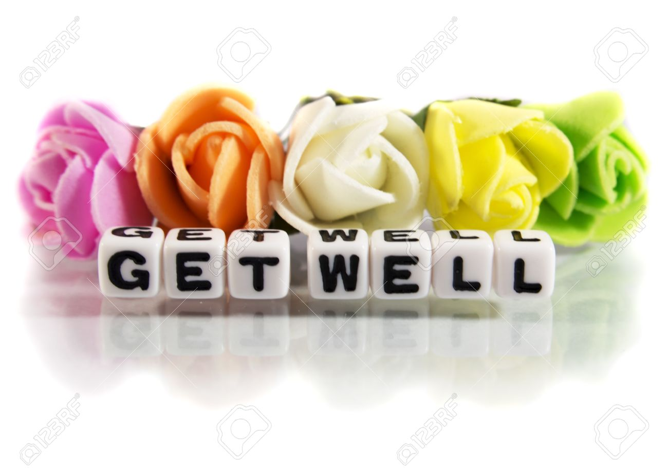 Get well soon card images stock pictures royalty free get well get well soon card get well soon message with flowers and letters dhlflorist Images