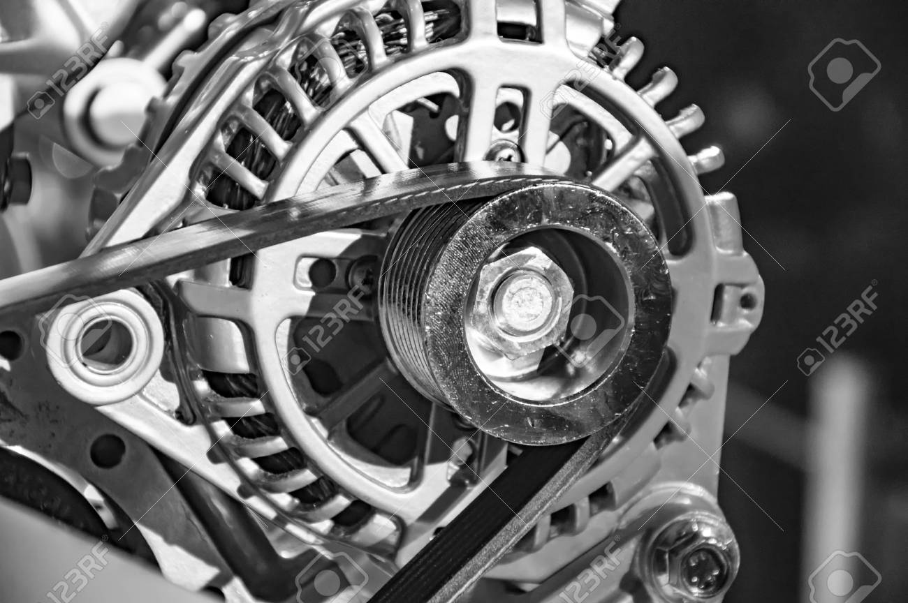 Gürtel Auf Dem Rad Auf Dem Motor Des Automodells, Das Andere Teile ...