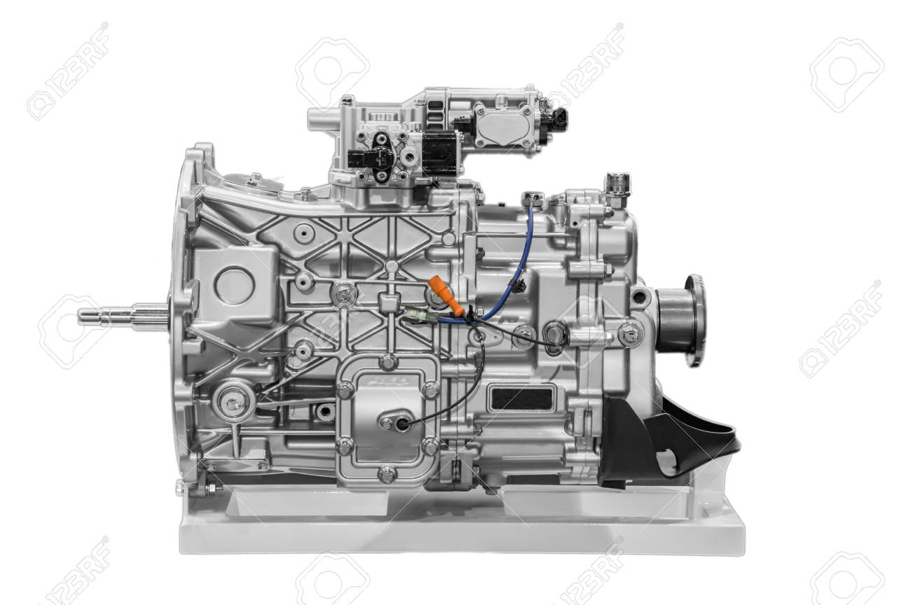 Car Engine Model With Actual Parts. Stock Photo, Picture And Royalty ...