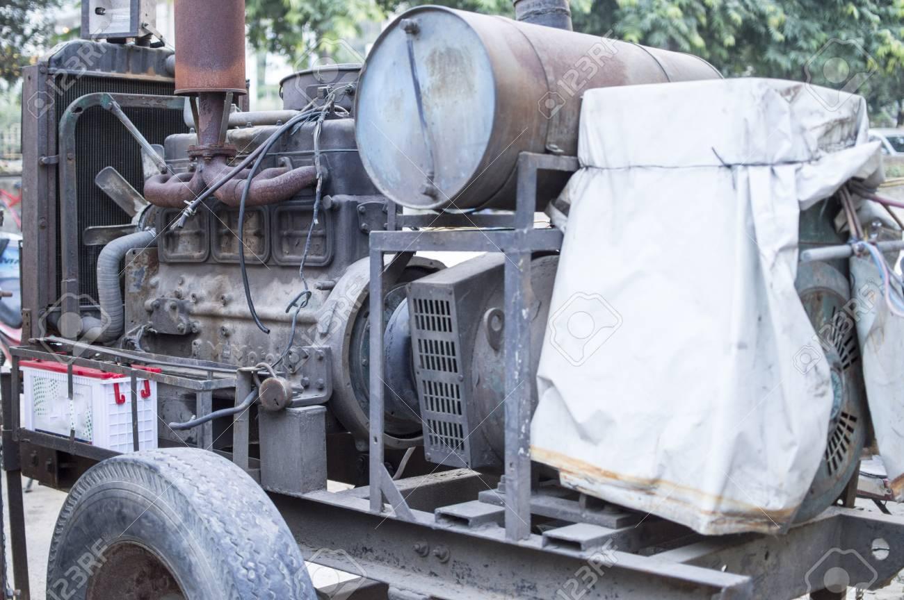 Generador Electrico Que Funciona Con Un Motor Diesel