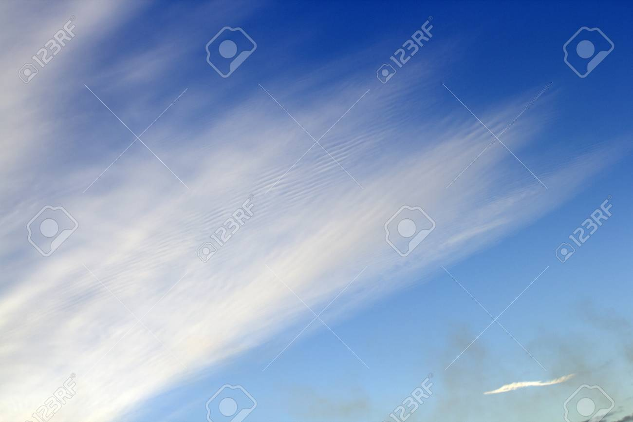 Heavenly landscape. Light clouds in the bright blue sky. - 50872911