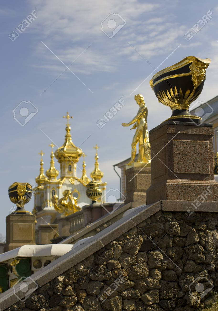 Grand Cascade - the most grandiose construction of the Lower Park in Peterhof. - 57794068