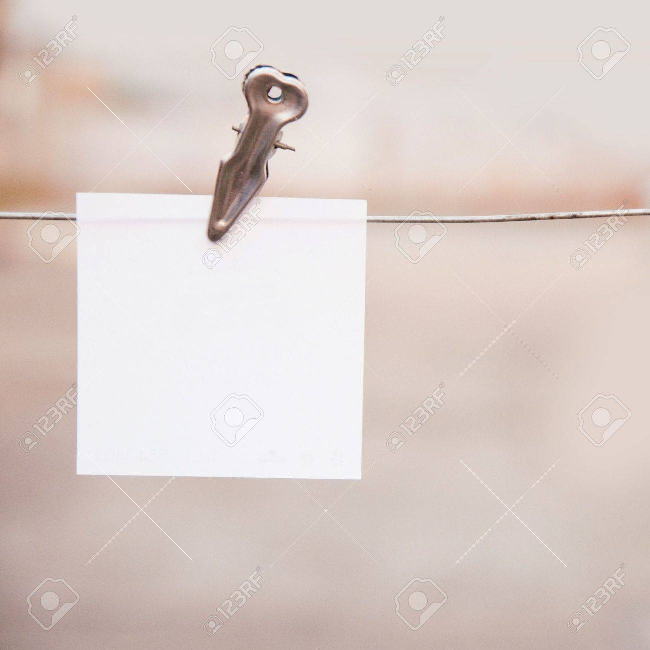 Hanging on the wire clamp. Stock Photo - 13024545