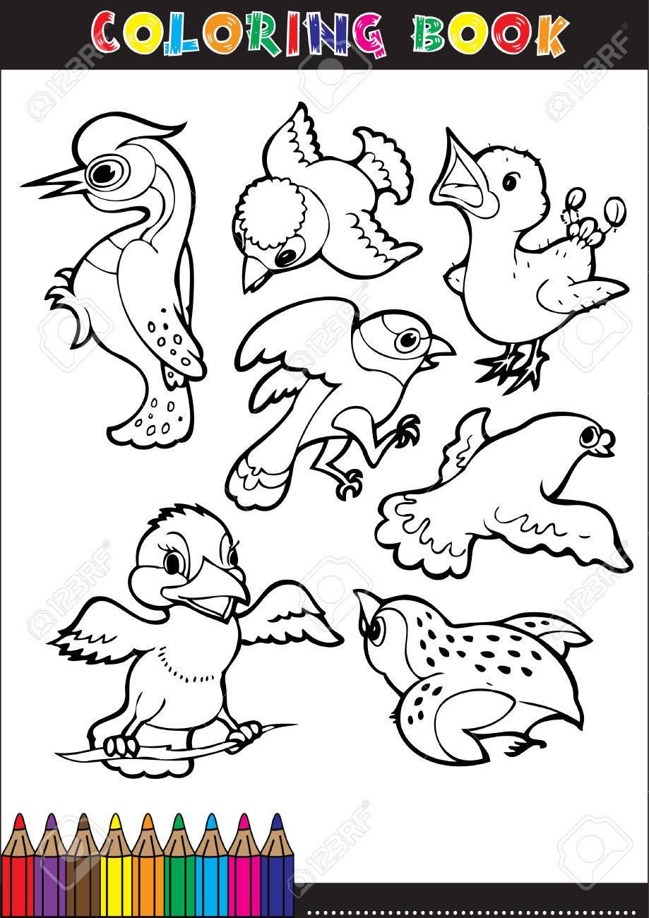 Cartoon Ilustraciones De Libros Para Colorear. Serie Para Los Niños ...