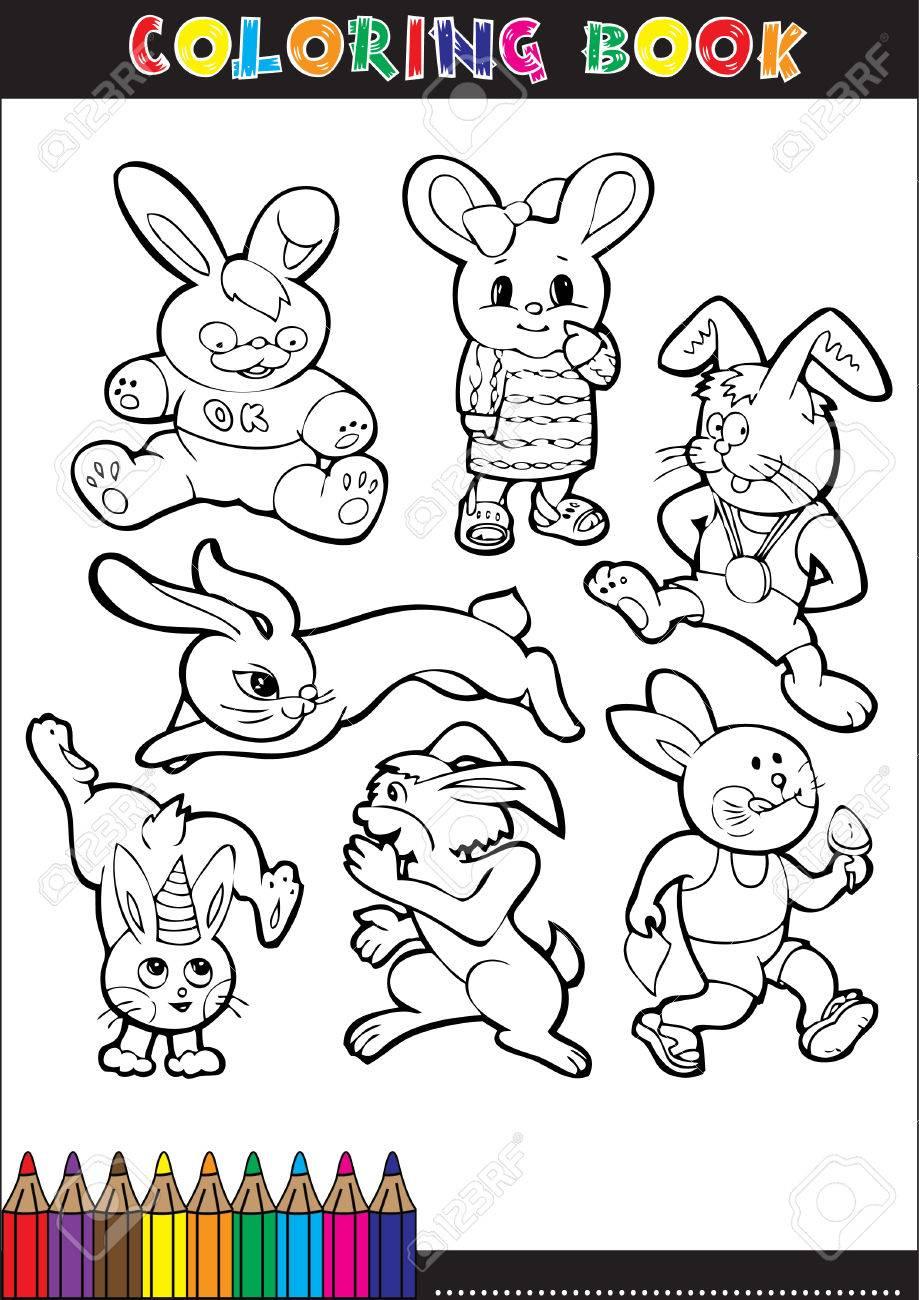 Libro Da Colorare Per Bambini Coniglio Fumetti O Illustrazioni
