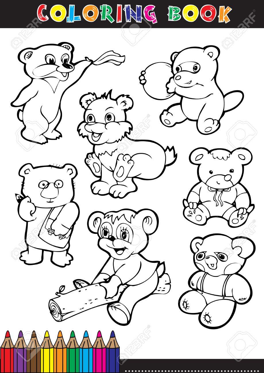 Libros Para Colorear O Páginas Para Colorear Dibujos Animados En ...