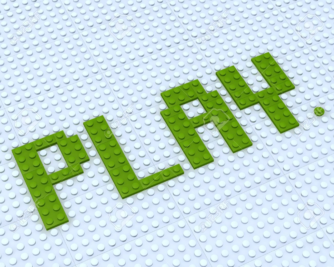 Constructor Lego Play Word On White Background Stock Photo ...