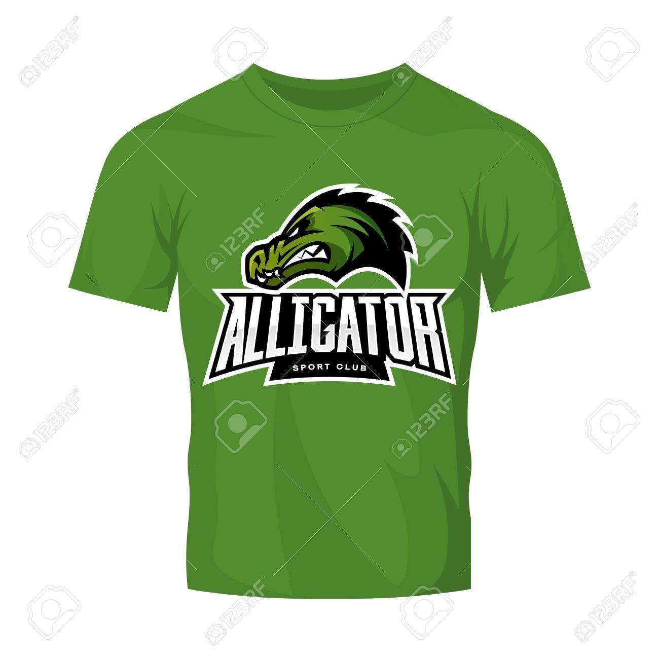 Furious alligator sport vector logo concept isolated on green furious alligator sport vector logo concept isolated on green t shirt mockup modern predator buycottarizona