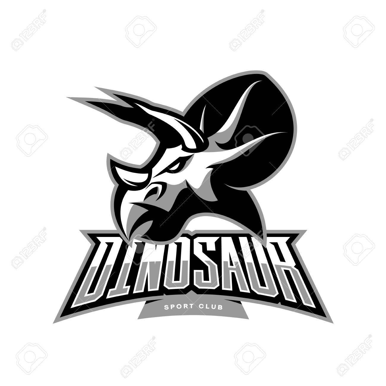 96c638099373 Savage monster icon. Furious dinosaur sport club vector logo concept  isolated on white background. Modern team badge mascot