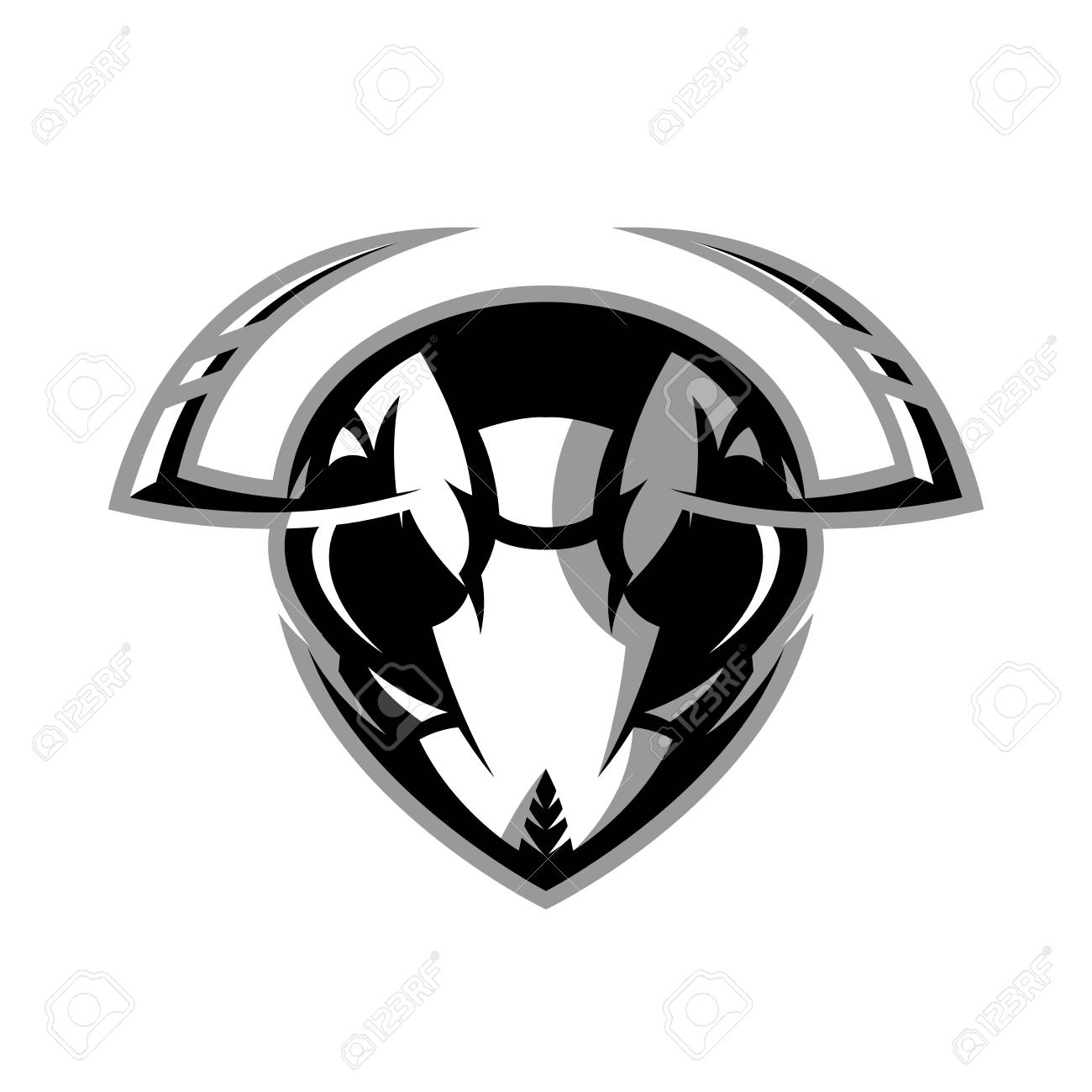 Furious Hornet Head Badge Royalty Free Cliparts Vectors And Stock