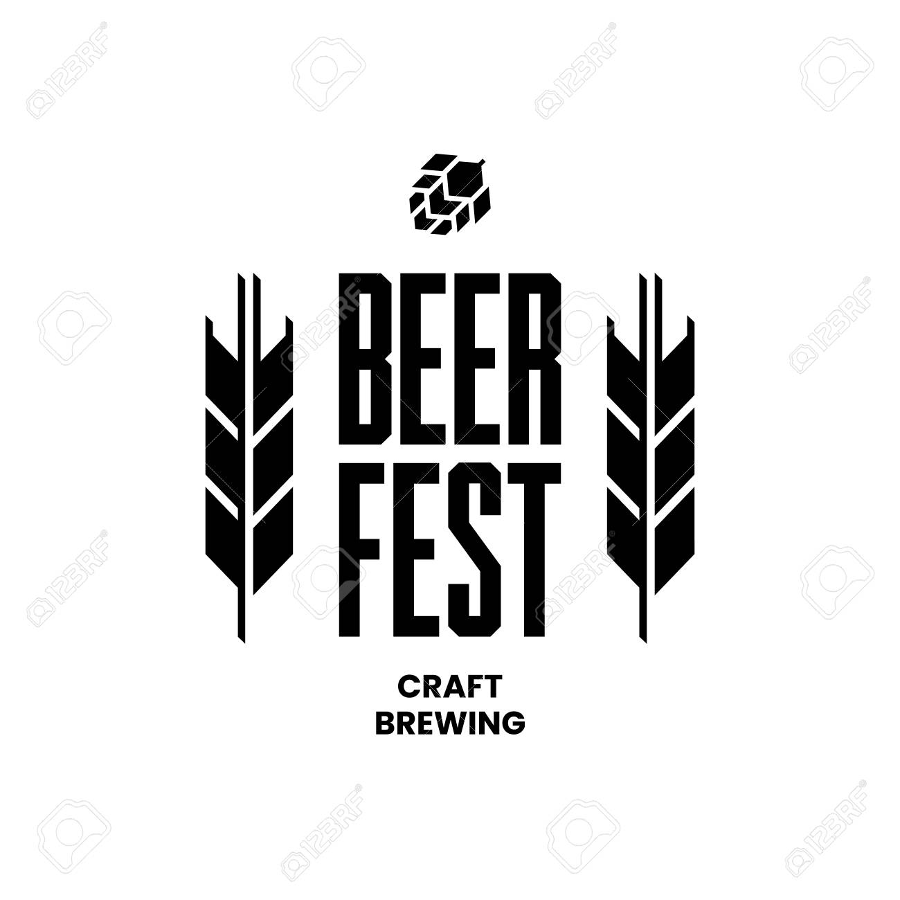 Modern craft beer drink vector logo sign for bar, pub, store, brewhouse or brewery isolated on white background. Premium quality emblem logotype illustration. Brewing fest fashion t-shirt badge design. - 120438757