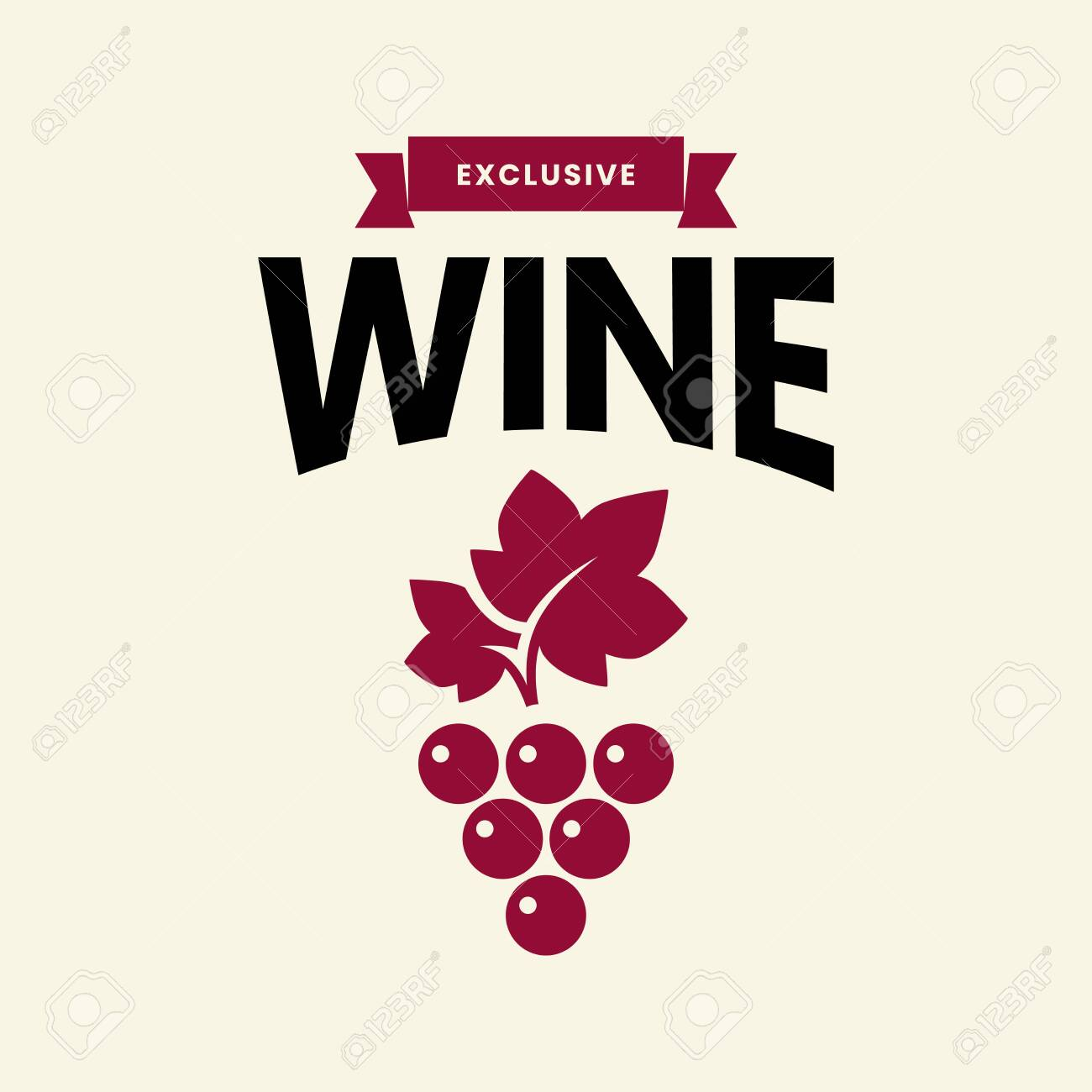 Modern wine vector logo sign for tavern, restaurant, house, shop, store, club and cellar isolated on light background. Premium quality vinery logotype illustration. Fashion brand badge design template. - 120438816