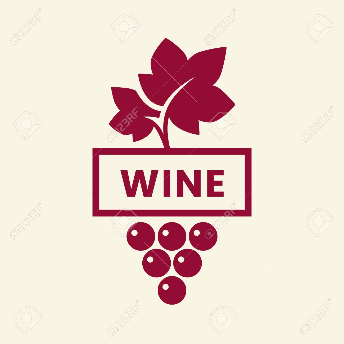 Modern wine vector logo sign for tavern, restaurant, house, shop, store, club and cellar isolated on light background. Premium quality vinery logotype illustration. Fashion brand badge design template. - 126498809