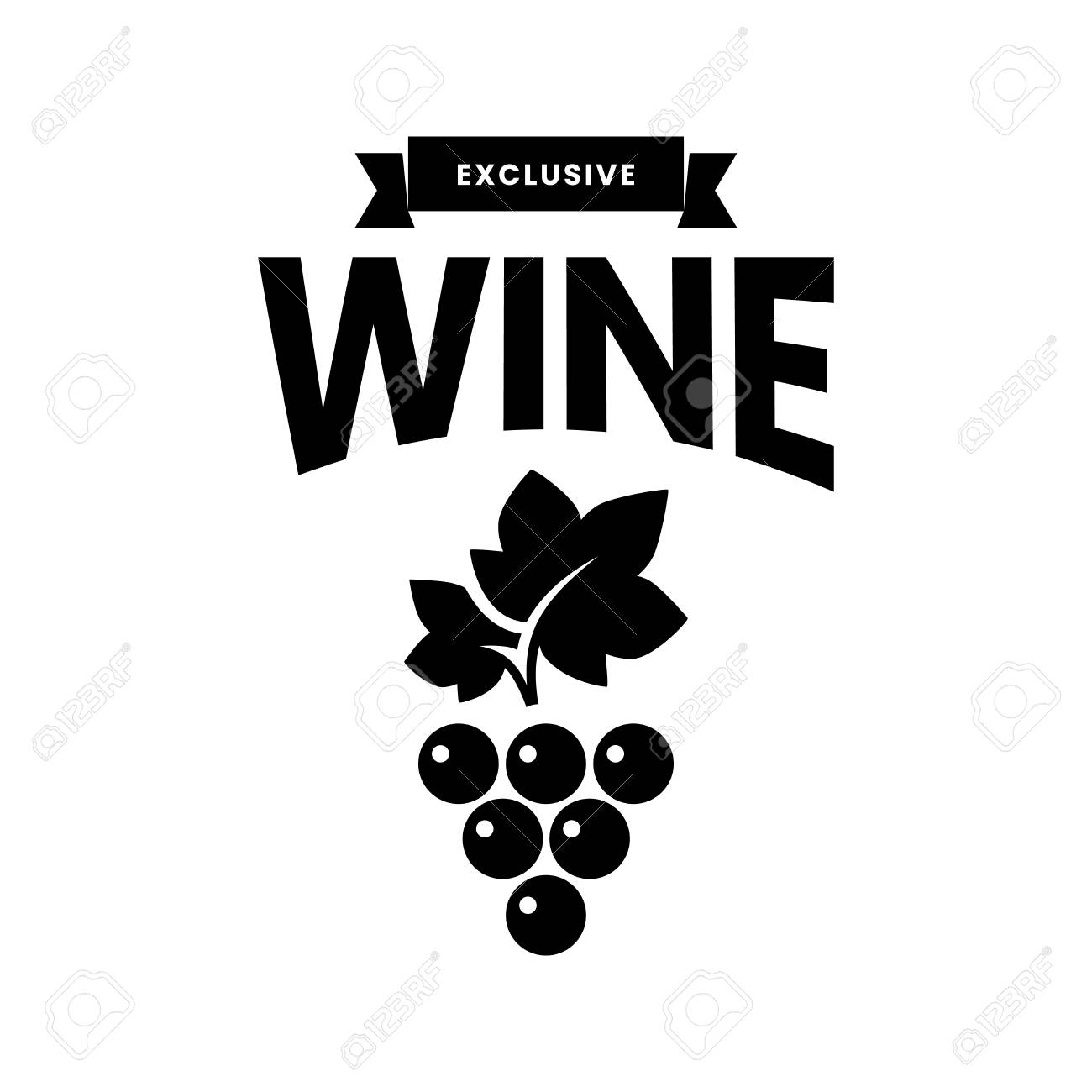 Modern wine vector logo sign for tavern, restaurant, house, shop, store, club and cellar isolated on white background. Premium quality vinery logotype illustration. Fashion brand badge design template. - 126498892