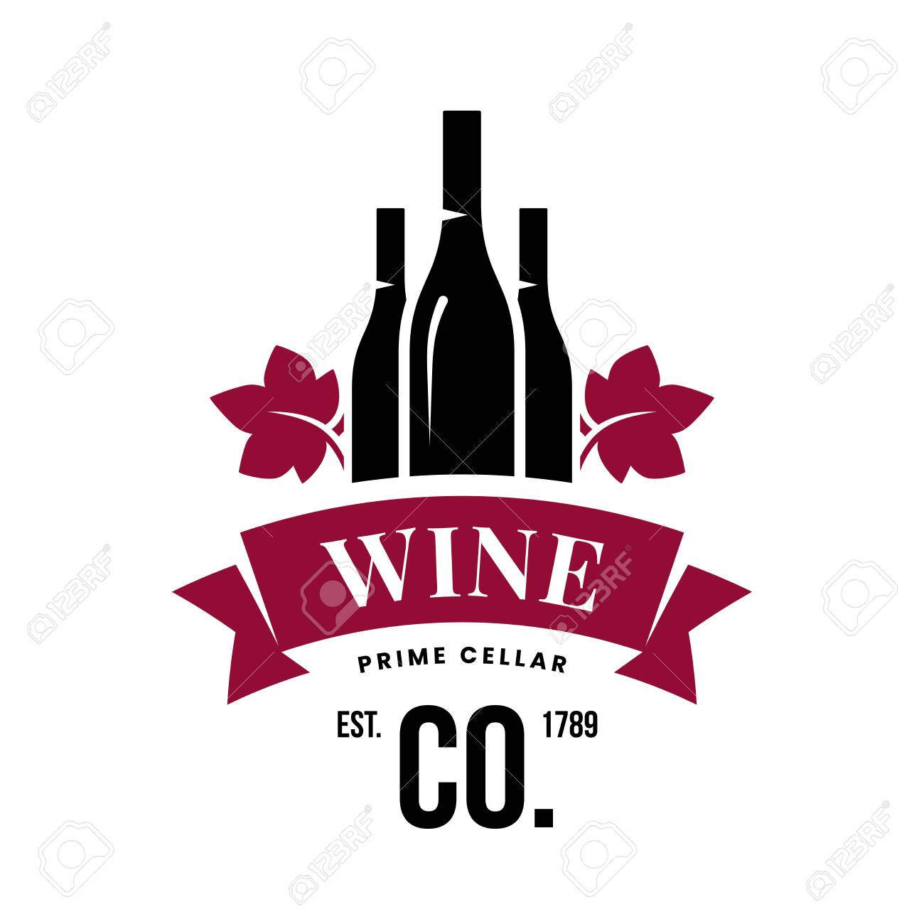 Modern wine vector logo sign for tavern, restaurant, house, shop, store, club and cellar isolated on white background. Premium quality vinery logotype illustration. Fashion brand badge design template. - 126498902