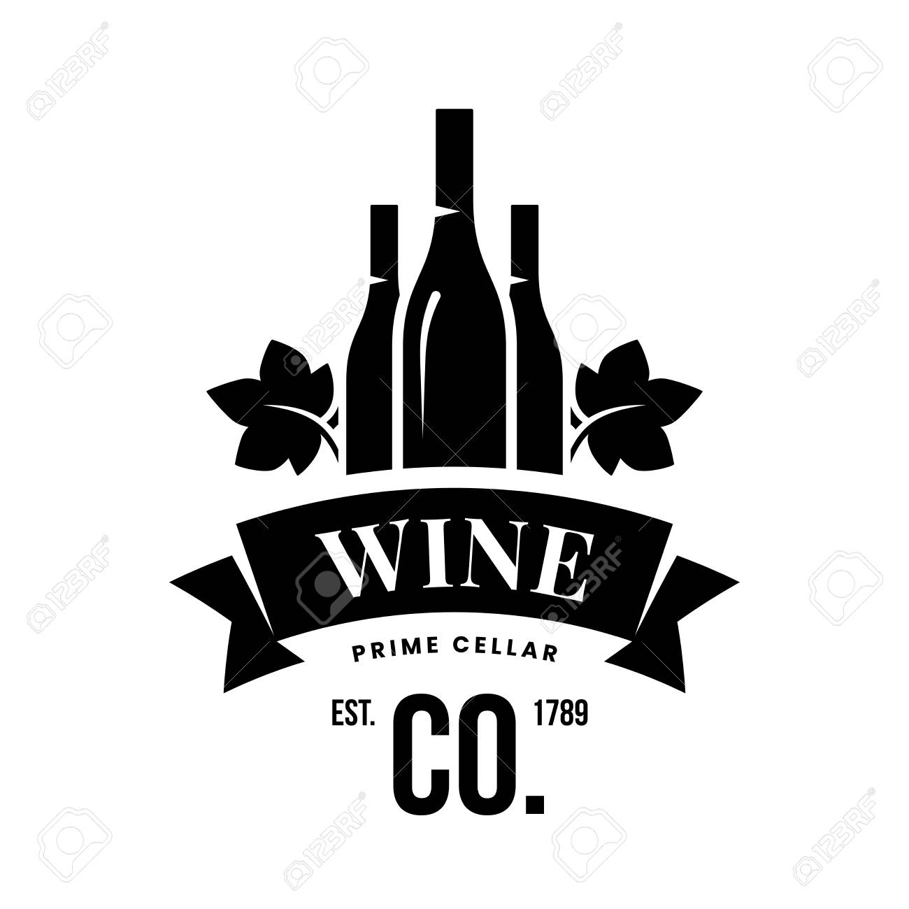 Modern wine vector logo sign for tavern, restaurant, house, shop, store, club and cellar isolated on white background. Premium quality vinery logotype illustration. Fashion brand badge design template. - 126498939