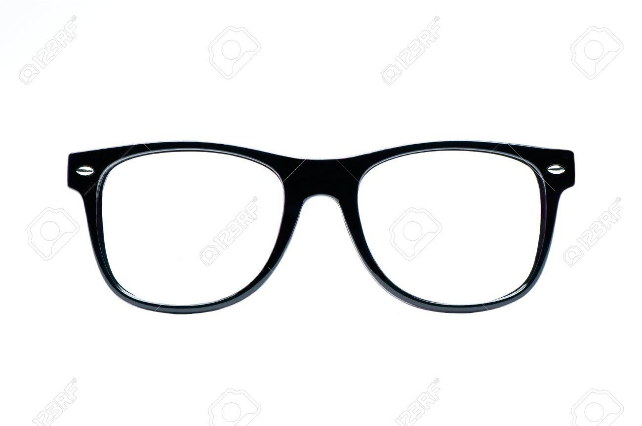 6248c0c1307 Black Nerd Glasses With White Background With Clipping Path