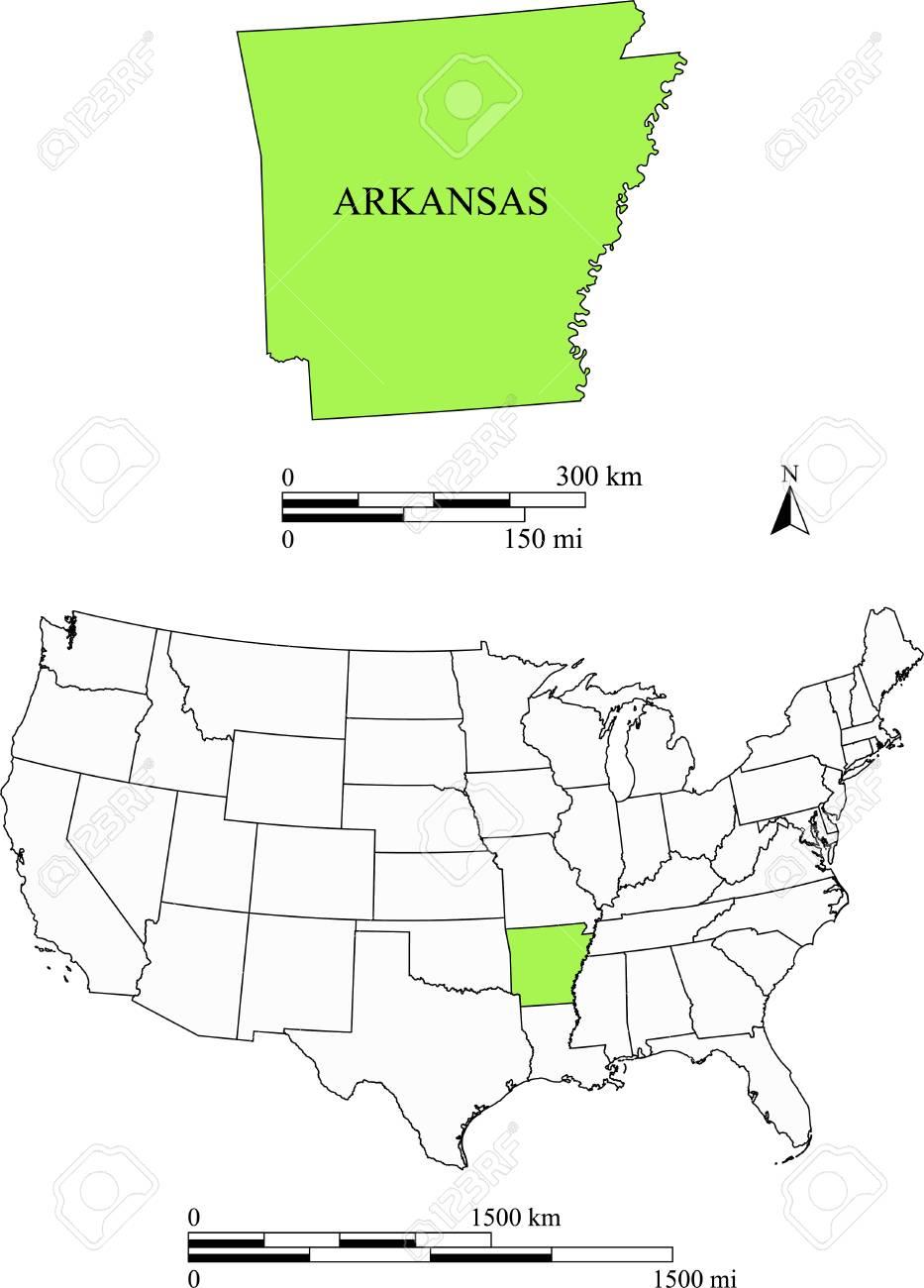 アーカンソー州地図のイラスト素材・ベクタ - Image 33289333.