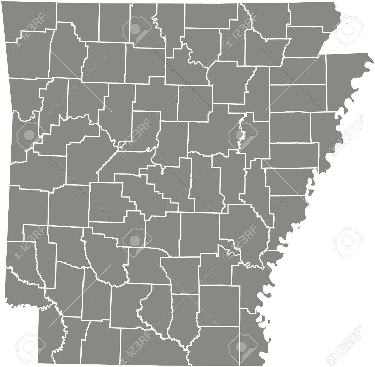 Arkansas county map vector outline in gray color on map of transportation, ar counties, map of scott, map of johnson, ark counties, map louisiana counties, map of drew, map of cross, map showing counties in arkansas, arkansas state map with counties, map florida counties, map california counties, map of arizona wildfires today, map kentucky counties, map mississippi counties, map of little river, map of louisiana parishes, map arkansas counties by population, map of white, map illinois counties,