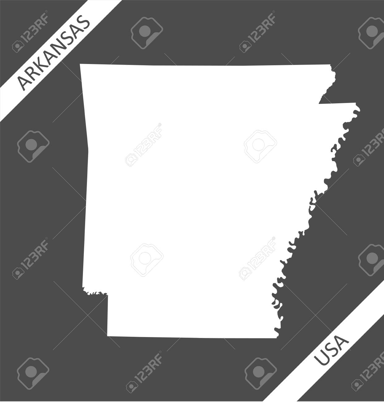 Image of: Blank Map Of Arkansas Usa Royalty Free Cliparts Vectors And Stock Illustration Image 151774146