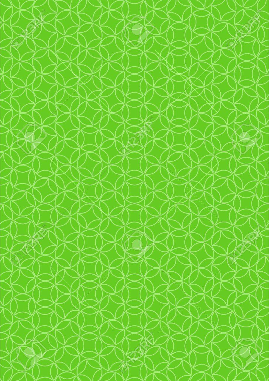 Strip Of Paper Wallpaper With A Simple Abstract Pattern On Green Background Stock Vector