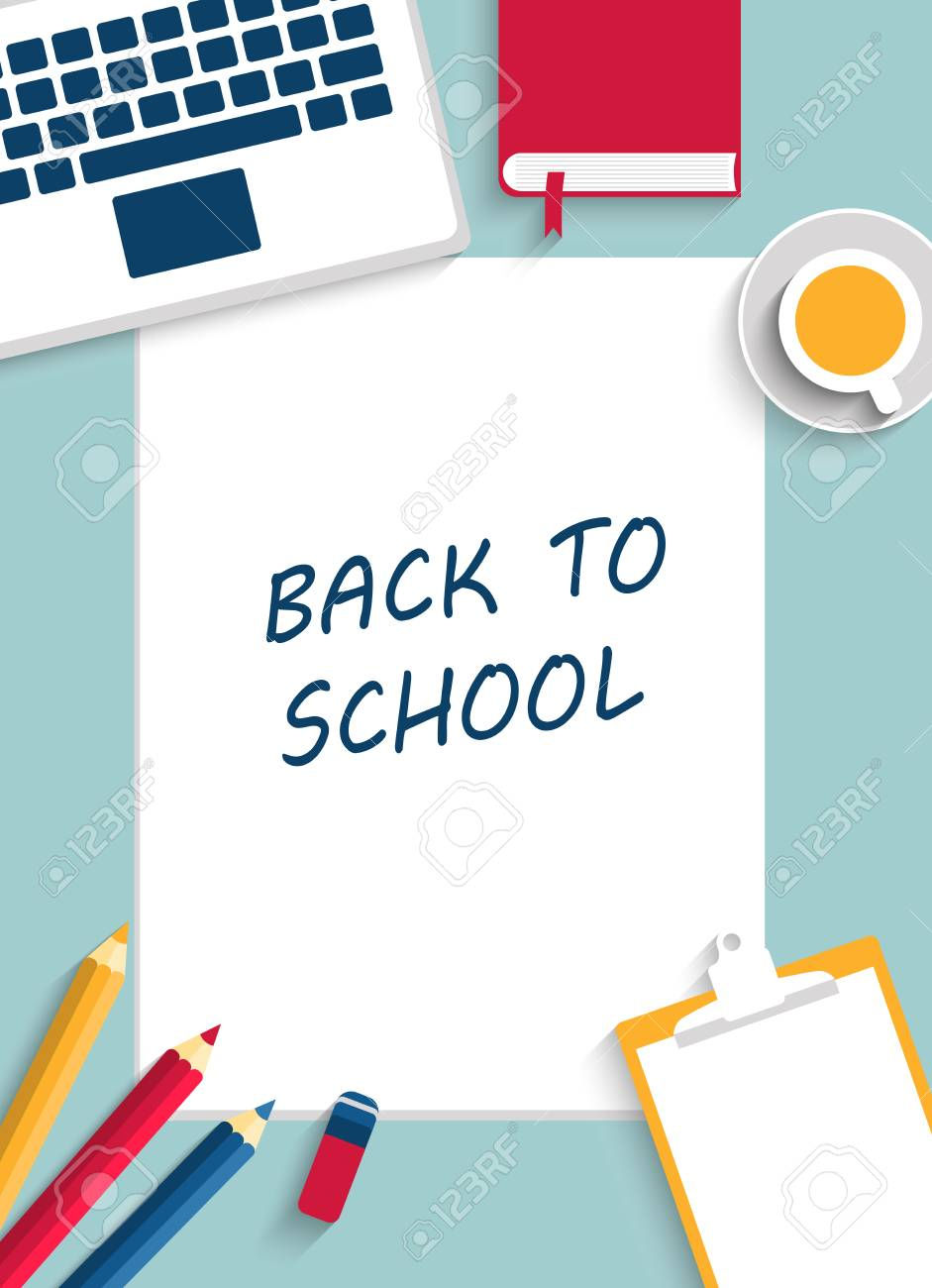 back to school background vertical vector illustration template for creative design layout poster
