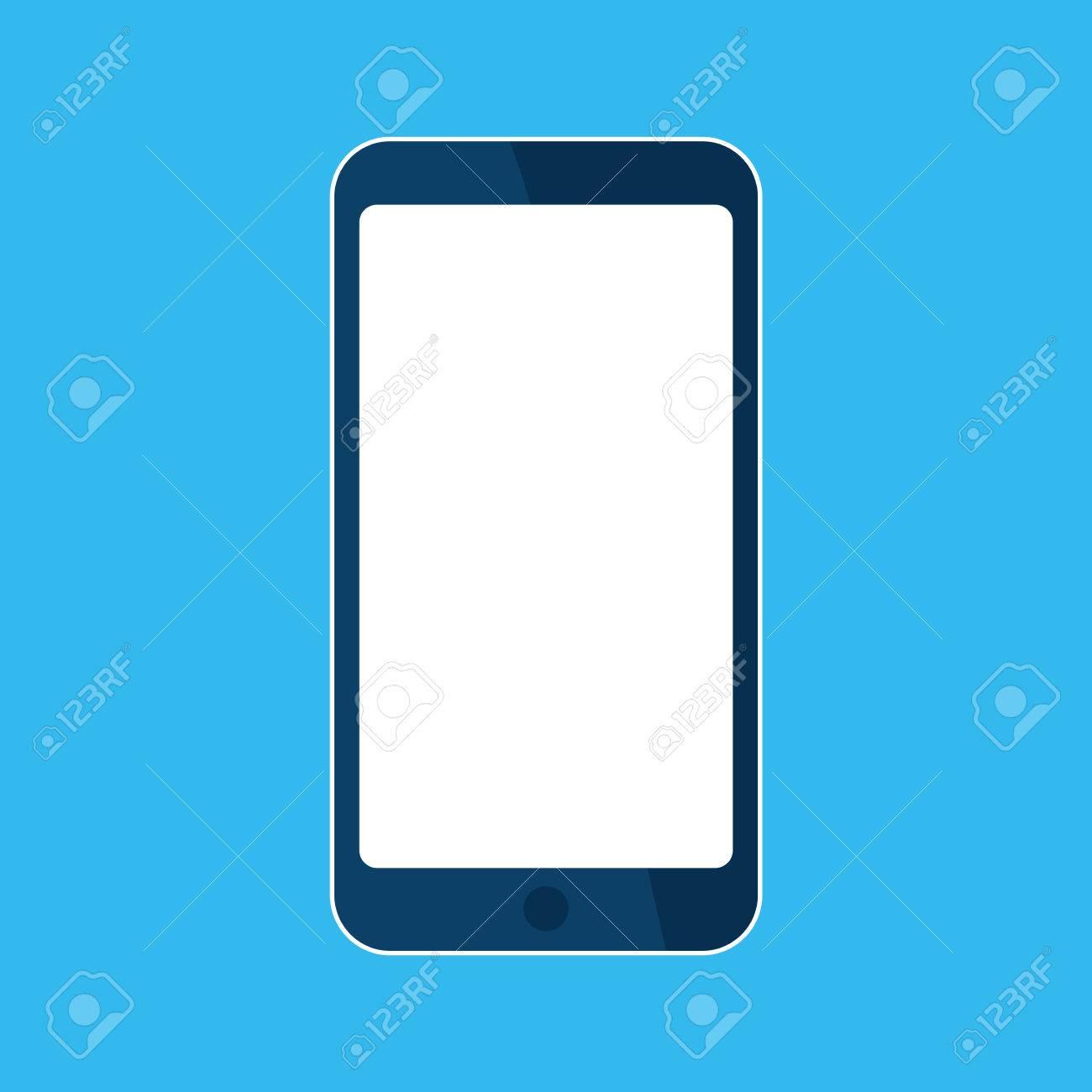 Mobile, smart phone icon  Template blank white skreen, mock up